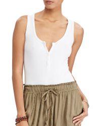 Denim & Supply Ralph Lauren | Sleeveless Henley Bodysuit | Lyst