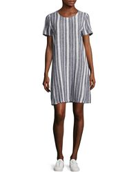 Two By Vince Camuto   Petite Yarn-dyed Striped Shift Dress   Lyst