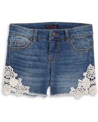 Material Girl - Crochet Denim Shorts - Lyst