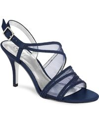 Adrianna Papell - Adelphi Metallic Leather Sandals - Lyst