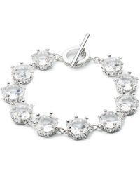 Carolee - Crystal Abbey Single-row Flex Bracelet - Lyst