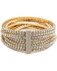 ABS By Allen Schwartz - Smoke And Mirrors Crystal Stretch Bracelet - Lyst
