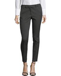 Marella | Geo-print Stretch-fit Trousers | Lyst