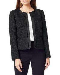 Precis Petite - Petite Houndstooth Open-front Jacket - Lyst