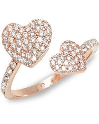 Kate Spade - Yours Truly Pavé Crystal Heart Ring - Lyst