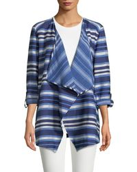 Ruby Rd. - Open Front Striped Jacket - Lyst