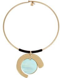 Robert Lee Morris - Moonrise Mother-of-pearl Crystal Wire Necklace - Lyst