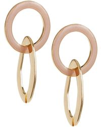 Lord & Taylor - Linked Circle Organic Earrings - Lyst