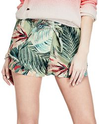 Guess - Paperbag Linen Shorts - Lyst