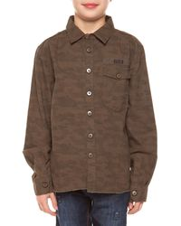 Dex - Camouflage Cotton Collared Shirt - Lyst