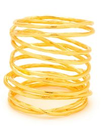 Gorjana - Lola Asymmetrical 18k Goldplated Ring - Lyst