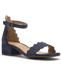 Lucky Brand - Norreys Scalloped Sandals - Lyst