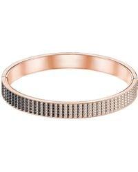 Swarovski - Luxury Crystal Large Hinged Bangle Bracelet - Lyst