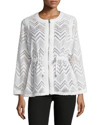 Ruby Rd. - Chevron Lace Long-sleeve Jacket - Lyst