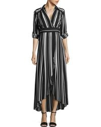 INC International Concepts | Striped Faux Wrap Maxi Dress | Lyst
