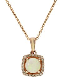 Effy | 14k Yellow Gold And Opal Pendant Necklace With 0.07 Tcw Diamonds | Lyst