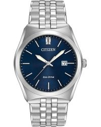 Citizen - Corso Eco-drive Blue Dial Stainless Steel Bracelet Watch - Lyst