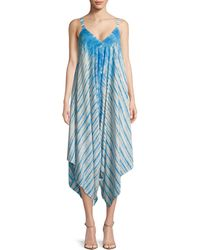 Lord & Taylor - Printed Handkerchief Jumpsuit - Lyst