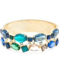Carolee - Pacific Gala Multi-crystal Hinged Cuff Bracelet - Lyst