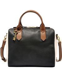 Fossil - Fiona Two-toned Satchel - Lyst