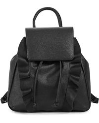 Lord & Taylor - Ruffled Snap Flap Backpack - Lyst