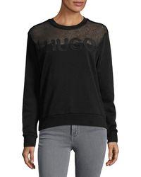HUGO | Nicta Jersey Logo Sweatshirt | Lyst