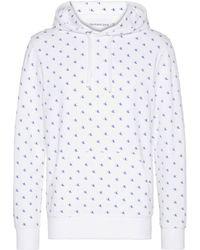 Calvin Klein - Hoodie Met Logo Print - Lyst
