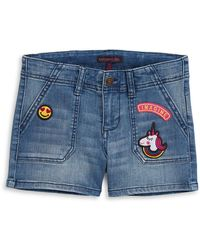 Material Girl - Five-pocket Denim Shorts With Patches - Lyst
