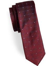 HUGO | Square Slim Silk Tie | Lyst