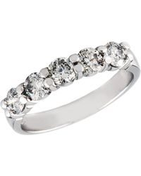 Effy - 14k White Gold 1 Tcw Diamond Wedding Band - Lyst
