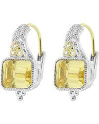 Judith Ripka - Estate Cushion Earring On Wire - Lyst