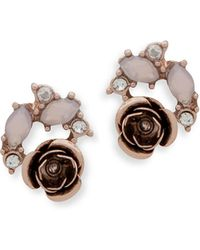Lonna & Lilly | Sweet Glimmer Rose Cluster Stud Earrings | Lyst
