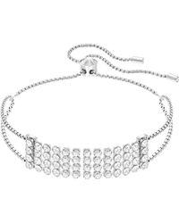 Swarovski - Fit Crystal Mesh Sliding Bracelet - Lyst