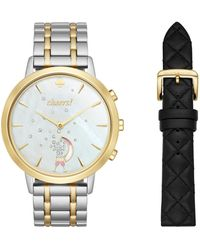 Kate Spade - Analog Metro Hybrid Two-tone Bracelet Watch Box Set - Lyst