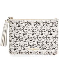 Karl Lagerfeld - Toby Embossed Leather Pouch - Lyst
