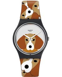 Swatch | Printed Analog Silicone Strap Watch | Lyst