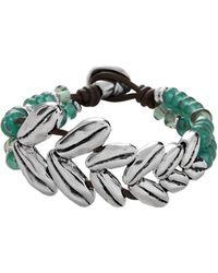 Uno De 50 - Sunrise Leather And Silver Bracelet - Lyst