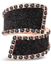 Guess - Bypass Glitter Stone Ring - Lyst