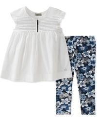 CALVIN KLEIN 205W39NYC - Two-piece Top And Floral Leggings Set - Lyst