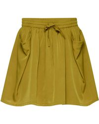 Ichi - Binoli Lace Trim Shorts - Lyst