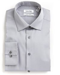 Calvin Klein | Solid Cotton Shirt | Lyst