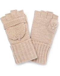 CALVIN KLEIN 205W39NYC - Lurex Texture Flip Top Gloves - Lyst
