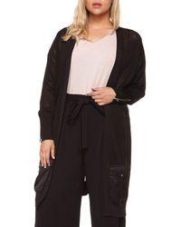 Dex | Plus Plus Patch Pockets Sweater Cardigan | Lyst