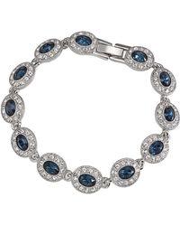 Carolee   Simply Blue Oval Stone Pave Bracelet   Lyst