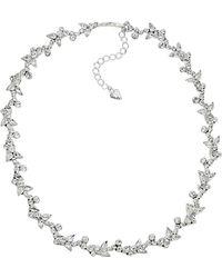 Carolee - Floral Crystal Necklace - Lyst