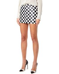 6a61f54f20 Filles A Papa - Chess Women Black And White Skirt - Lyst
