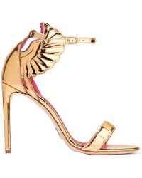 Oscar Tiye - Malikah Mirrored-leather Sandals - Lyst