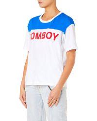 Filles A Papa - Tom Jersey Women Blue T-shirt - Lyst