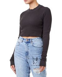 Cotton Citizen - Monaco Crop Women Black Shirt - Lyst