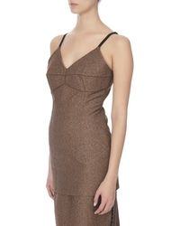 Bevza Fitted Women Brown And Terracotta Top